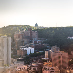Jeff On The Road - How To Find An Apartment in Montreal - Montreal Skyline from Place Ville-Marie overlooking Oratoire St-Joseph - All photos are under Copyright  © 2017 Jeff Frenette Photography / dezjeff. To use the photos, please contact me at dezjeff@me.com.