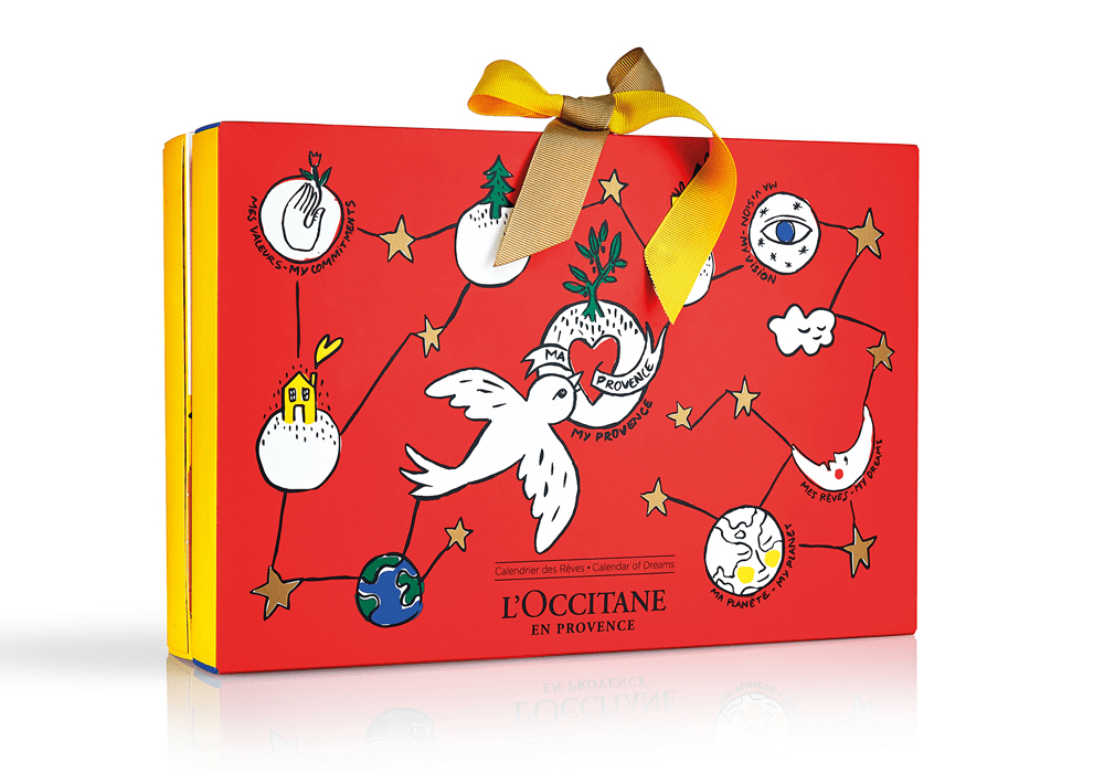 Jeff On The Road - Holidays - Gifts - The 10 Best Advent Calendars For Men - L'Occitane Signature Advent Calendar LOCCITANE-calendrier-avent-beaute-2018-reves-castelbajac