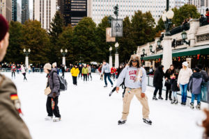 Jeff On The Road - Travel - Chicago - What to do - Millenium Park - Ice Skating Rink - All photos are under Copyright  © 2017 Jeff Frenette Photography / dezjeff. To use the photos, please contact me at dezjeff@me.com.