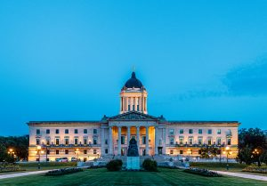 Manitoba Legislative Building at night — Winnipeg — Manitoba — Jeff Frenette Photography