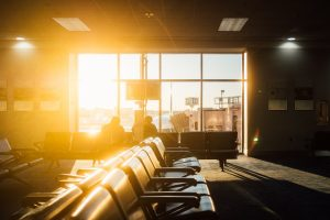 Waiting at the airport for my flight to CDMX - Travelling to Mexico City - Jeff On The Road - Jeff Frenette Photography
